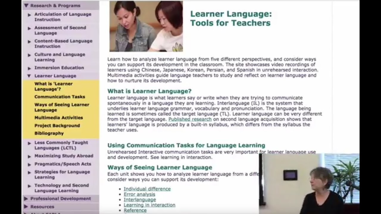 The Center for Advanced Research on Language Acquisition