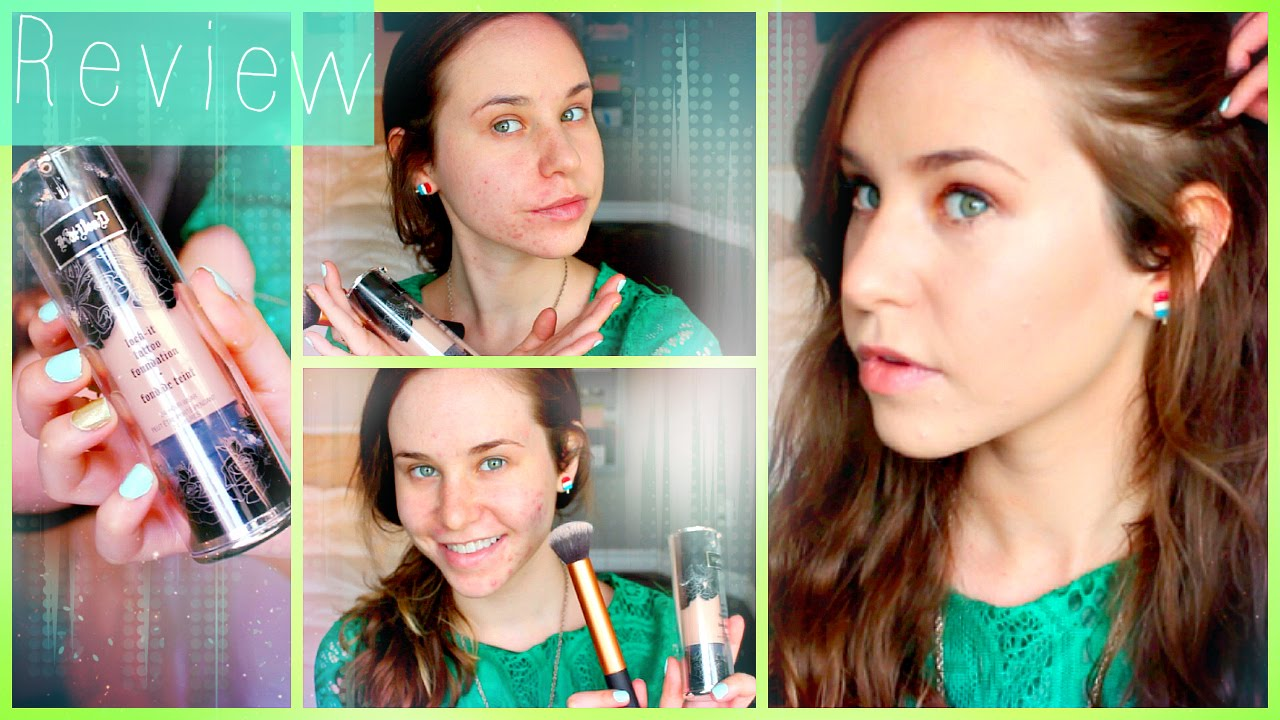 Kat von d lock it tattoo foundation review demo how to for Tattoo foundation cover up