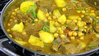 Curry Beef With Potato & Chickpeas