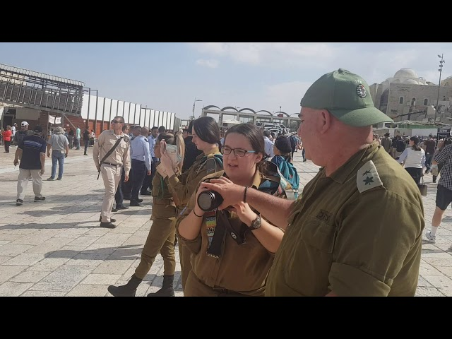 Why Israel's soldiers are visiting the Western Wall (Wailing Wall) Jerusalem, Israel?