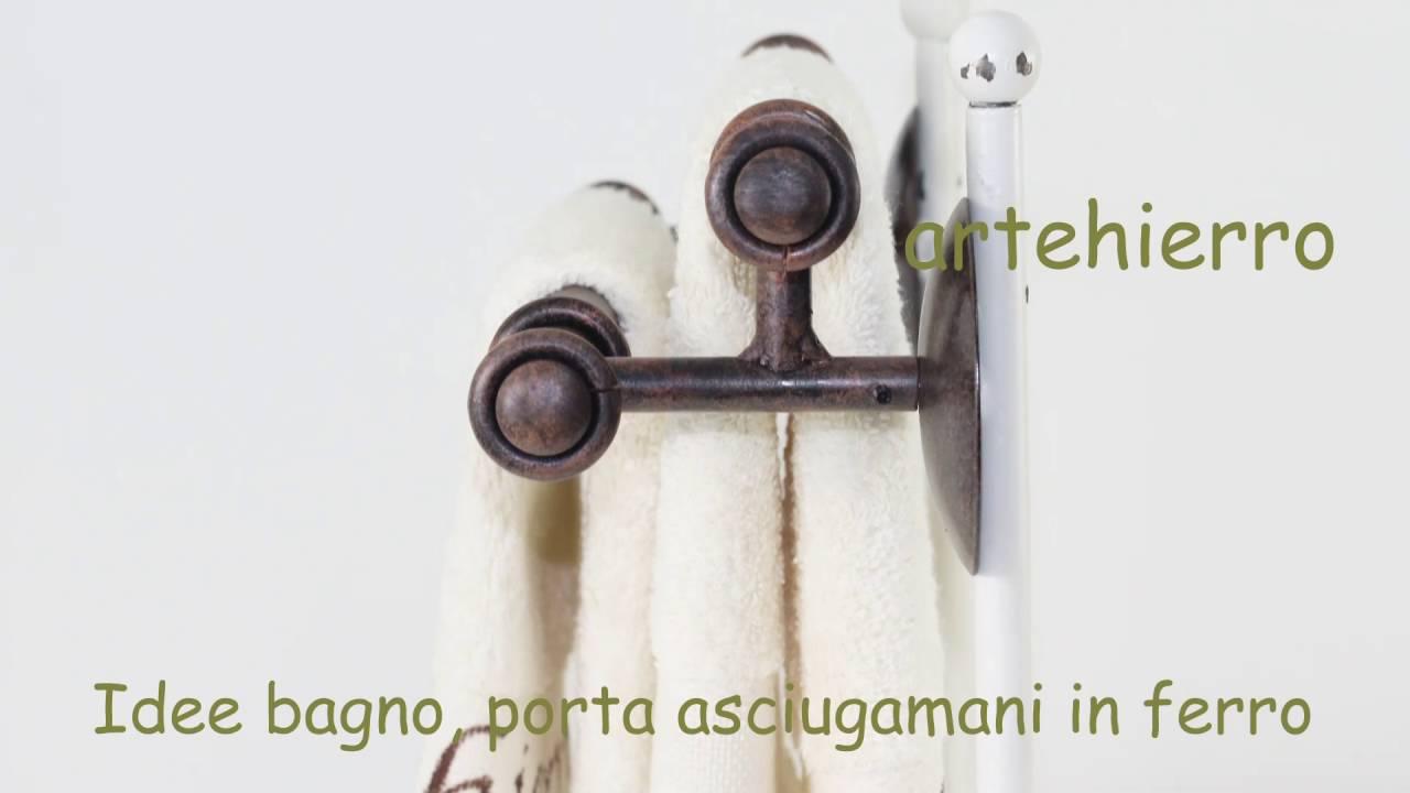 Idee bagno porta asciugamani in ferro decorazione in - Idee per porta asciugamani ...