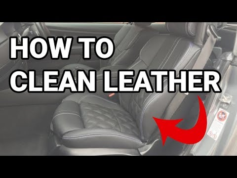 Trick How to clean leather seats - BMW E60