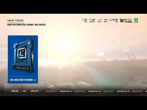 Madden 18 Ultimate Team Legend Will Shields Objective Reward Pack Opening