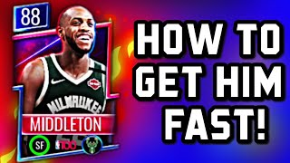 HOW TO GET KHRIS MIDDLETON FROM THE TOP 100 PROMO IN NBA LIVE MOBILE SEASON 5!