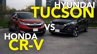 2017 Honda CR-V Vs Hyundai Tucson Comparison