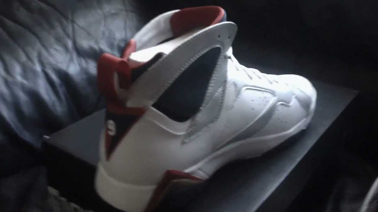 cheap for discount c00fd 1bd17 Real Vs Fake Air Jordan Olympic 7 - YouTube