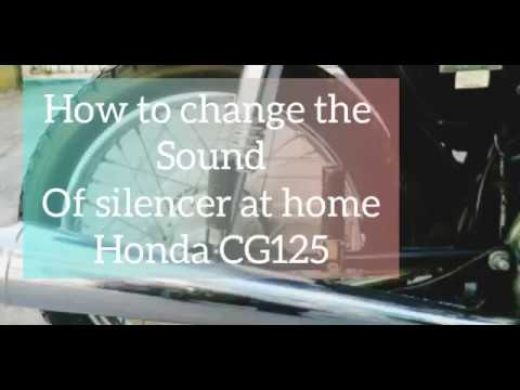 How to make bike silencer  at home / Honda CG 125  silencer  modified/Honda sounds  lika a duke Bike