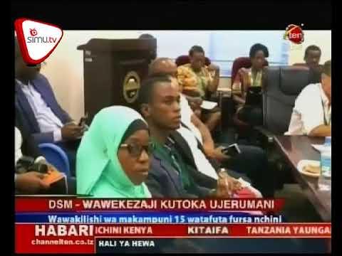 Ujumbe Wa Wekezaji Kutoka Ujerumani Wawasili Nchini