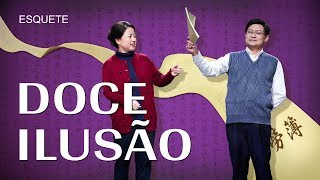 "Esquete cristã no teatro ""Doce ilusão"""