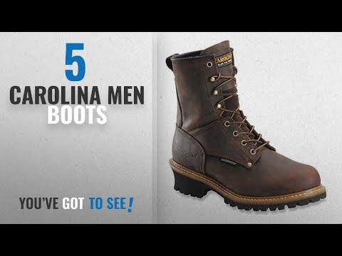 "Top 10 Carolina Men Boots [ Winter 2018 ]: Carolina Men's 8"" Waterproof Plain Toe Logger ST Copper"