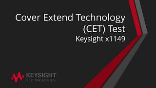 11. Keysight x1149 CET Test