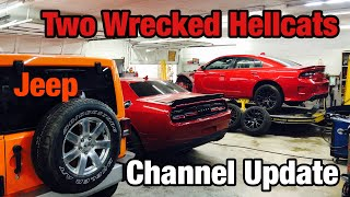 First To Rebuild Two Wrecked Dodge Hellcats, Charger & Challenger Hellcat, New Year Channel Update