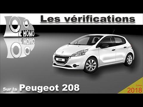 Peugeot 208: vérifications et sécurité routière