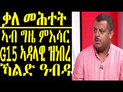 ቃለ መሕተት ምስ ኣብ ግዜ ምእሳር ኣባላት ኣብ ኤርትራ ኣዳላዊ ጋዜጠታት ዝነበረ | Eritrean news 2019