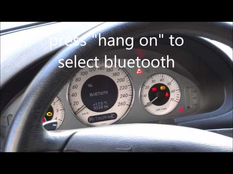 Mercedes W211 How to connect a mobile via bluetooth and SAP V2