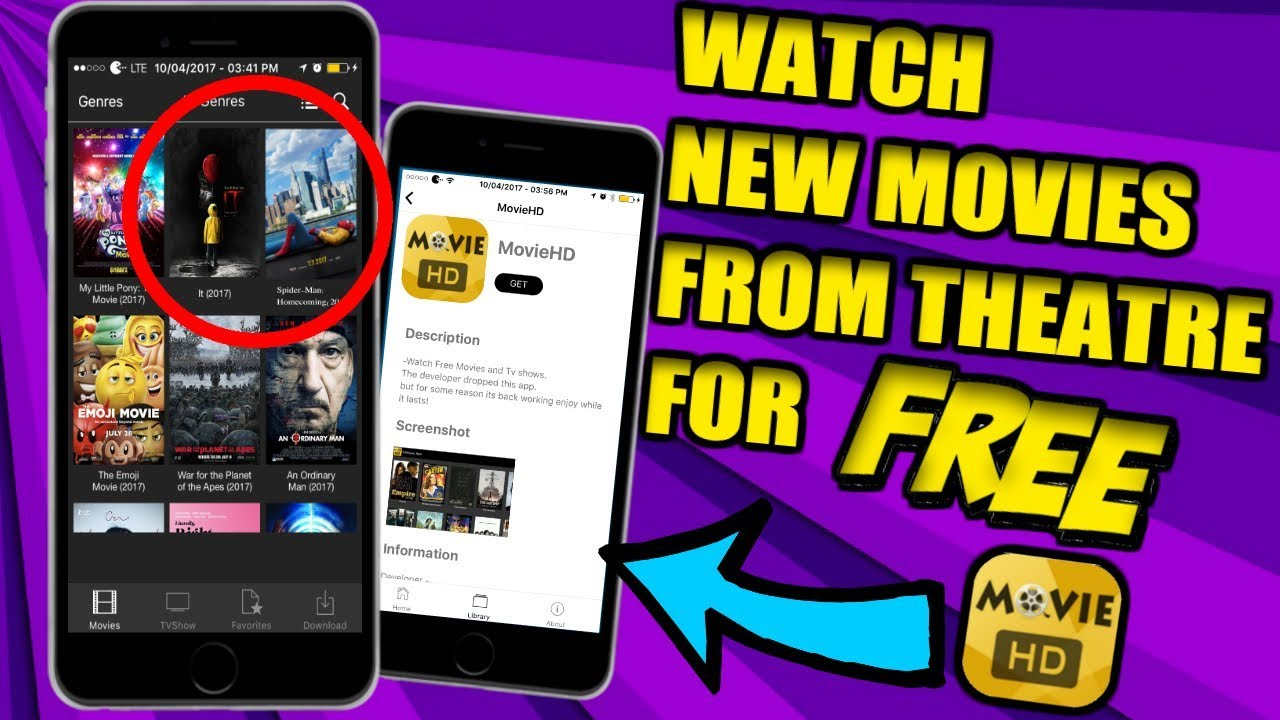 apps to watch free movies in theaters