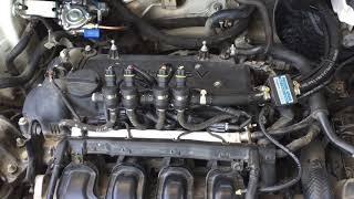 Переключение с бензина на газ. Звук работы двигателя