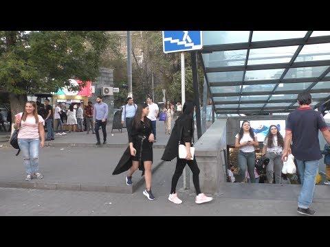 Yerevan, Abovyan+Isahakyan, Minchev Koghbatsi, 17.09.19, Tu, Video-2.