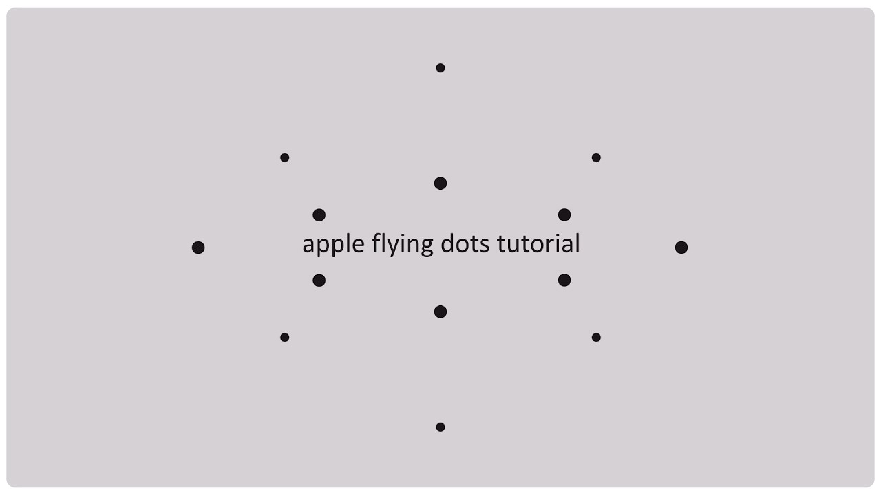 Apple animation tutorial  Flying dots   EasyAfterEffects net