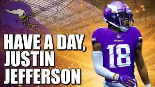 The minnesota vikings finally allowed rookie first round wide receiver justin jefferson to play his and game look what happened. become a channel member!...