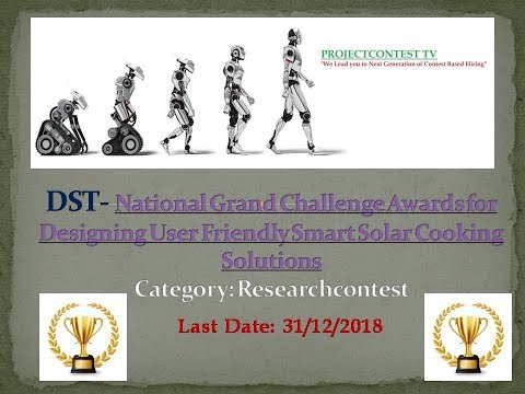 National Grand Challenge Awards for Designing User Friendly Smart Solar Cooking Solutions