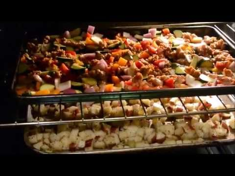 Super Easy Simple Roasted Meal using the Oven.. roasted  veggies and potatoes