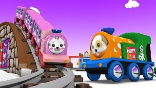 Toy Factory Trains - Cartoon Train - Car Cartoon - Toy Trains for Children - Jcb Cartoon - Trains