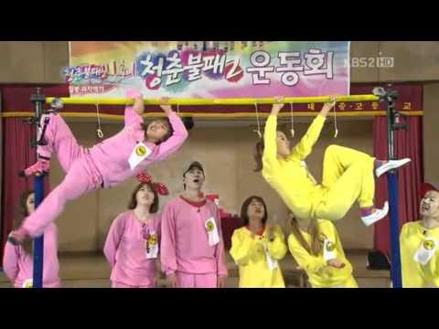 120505 - Taeyeon (SNSD) vs. Yewon (Jewelry) - Game cut @ IY2