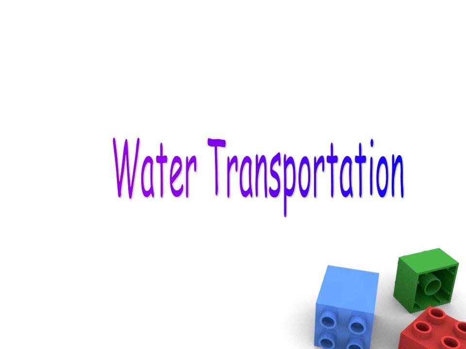 Water Transportation For Preschool Children, Water