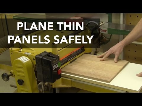 Plane Thin Panels Safely with this Sled Jig