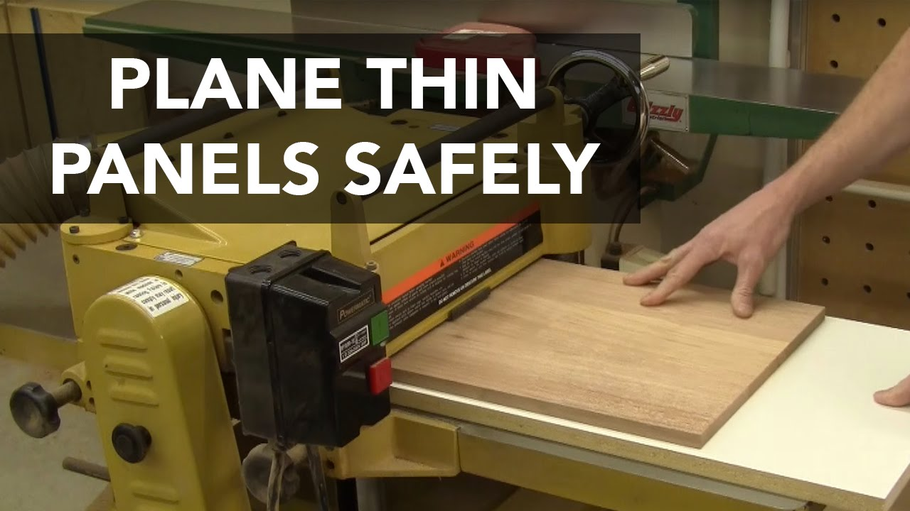 Plane Thin Panels Safely With This Sled Jig Youtube