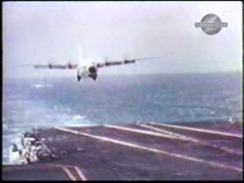 USS Forrestal C-130 Hercules Carrier Landing Trials - YouTube