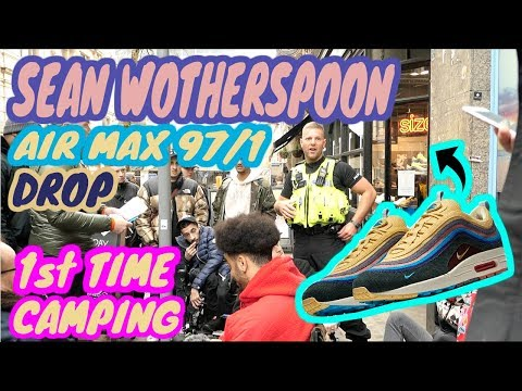 Camping for the 1st time for the Sean Wotherspoon AIR MAX 97/1 ( at size? Birmingham)