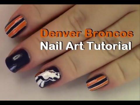 Denver Broncos Fan Nail Art Tutorial - Denver Broncos Fan Nail Art Tutorial - YouTube