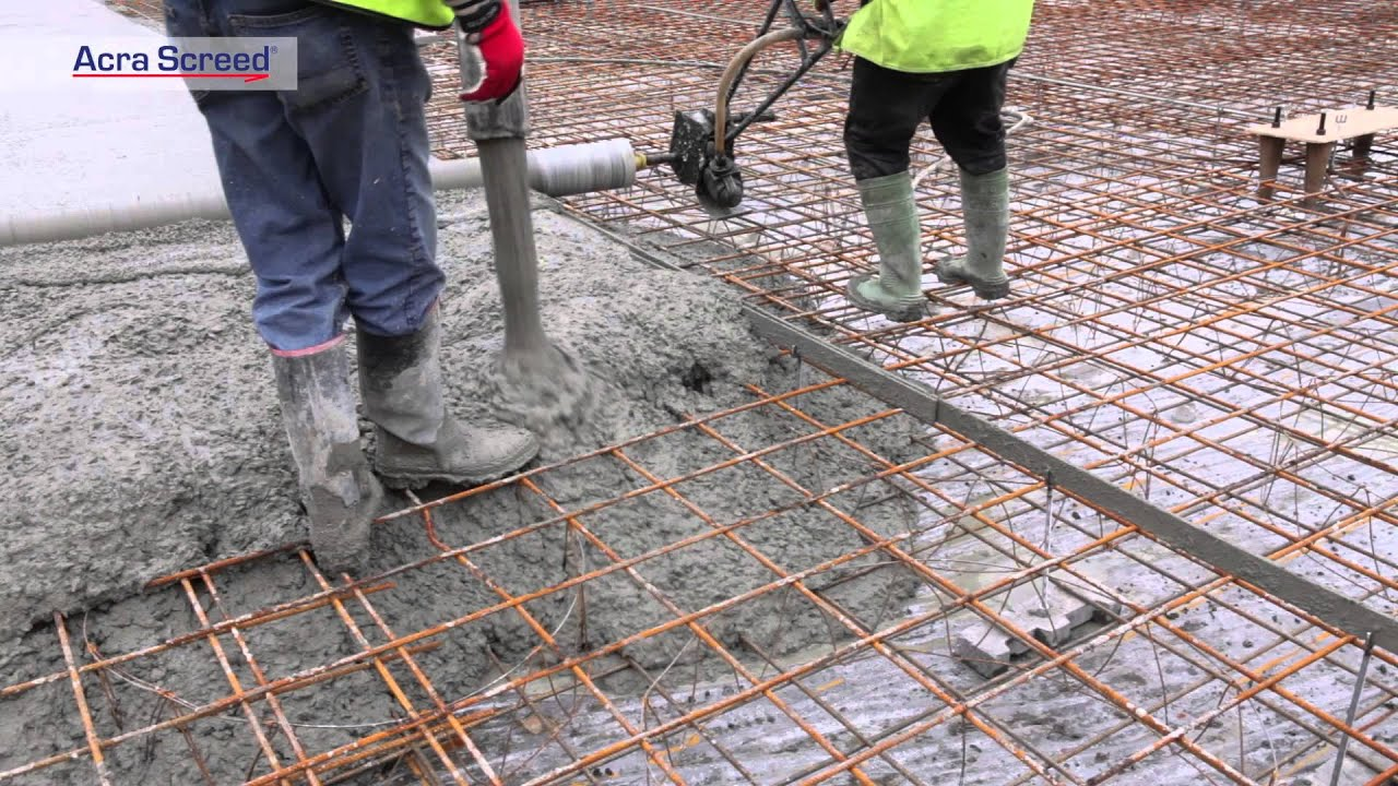 How To Screed A Floor >> Concrete screed rail system - Acra Screed - YouTube