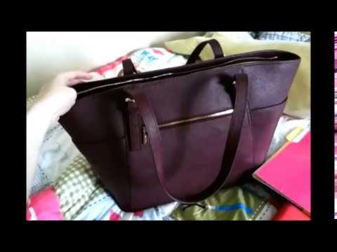 Handbag Review Danier Marilyn Saffiano Leather Tote