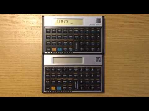 Original HP-15C vs  HP-15C Limited Edition - the Bessel function of the  first kind