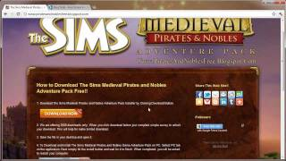 The Sims Medieval Pirates & Nobles Adventure Pack Download