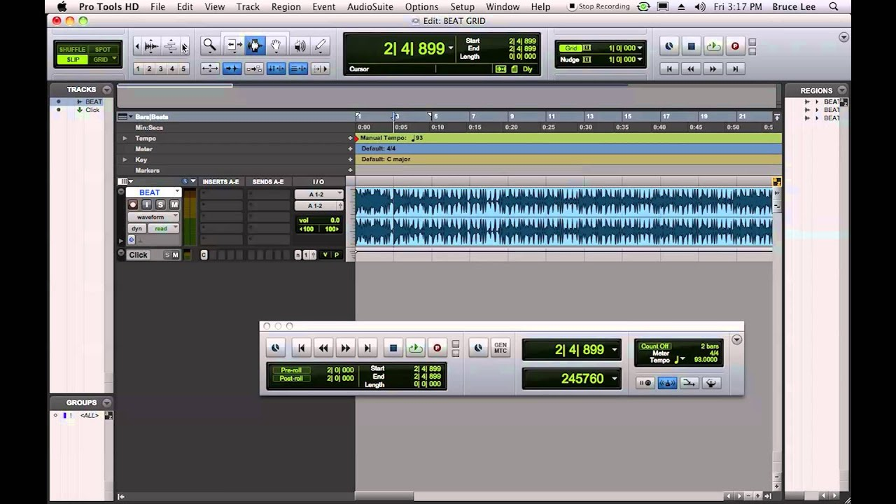 syncing a beat to the grid in protools youtube rh youtube com pro tools 10 manual español pdf pro tools hd 10 user manual