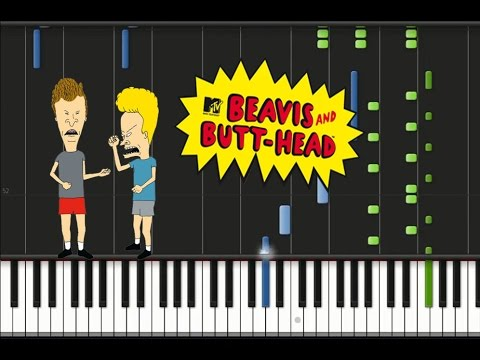 bevis-and-butthead---theme-song-synthesia-tutorial