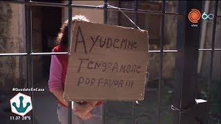 Puso un cartel porque tenía hambre y activó la solidaridad del barrio