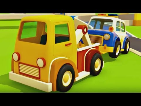 NEW cartoon for kids! Helper cars. Car cartoon about a fire truck, a police car and an ambulance.