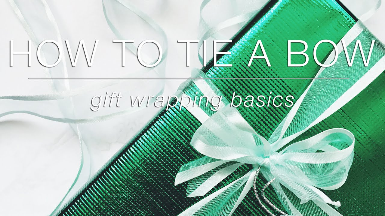how to tie a bow gift wrapping basics youtube. Black Bedroom Furniture Sets. Home Design Ideas
