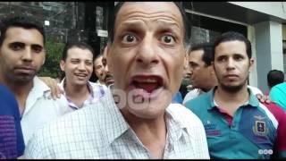 رصد   وقفة عمال اوراسكوم احتجاجا على قرار تسريحهم وعدم صرف رواتبهم لشهور