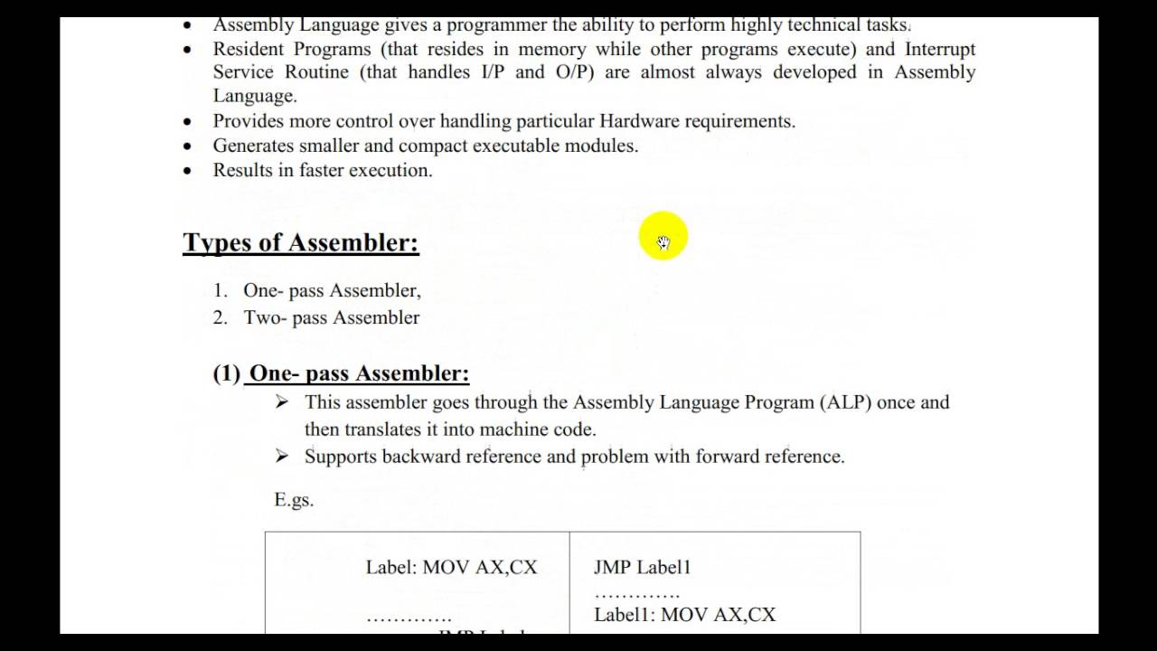 8086 Assembler, types and advantages of Assembly Language Programming