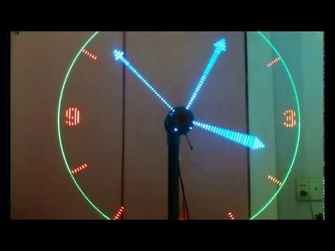 đồng hồ led - led clock - led quay - led xoay