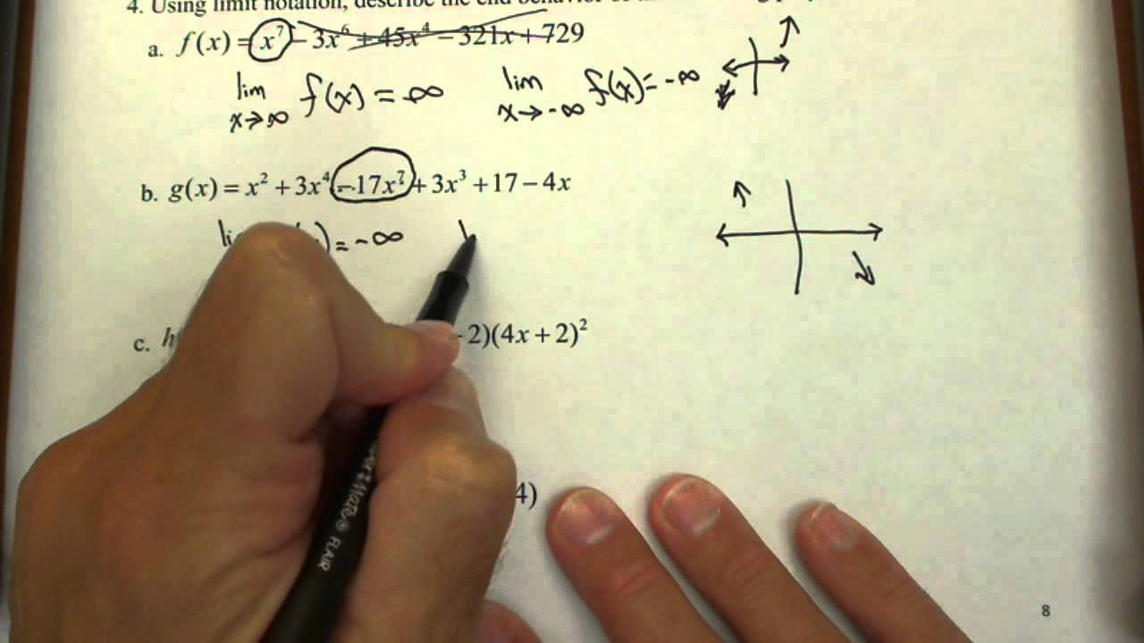 Writing the End Behavior of Polynomials in Limit Notation