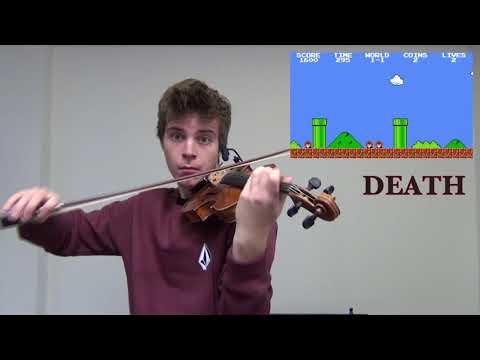Mario sounds on violin