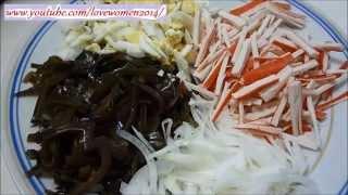 Салат с морской капустой по северному.