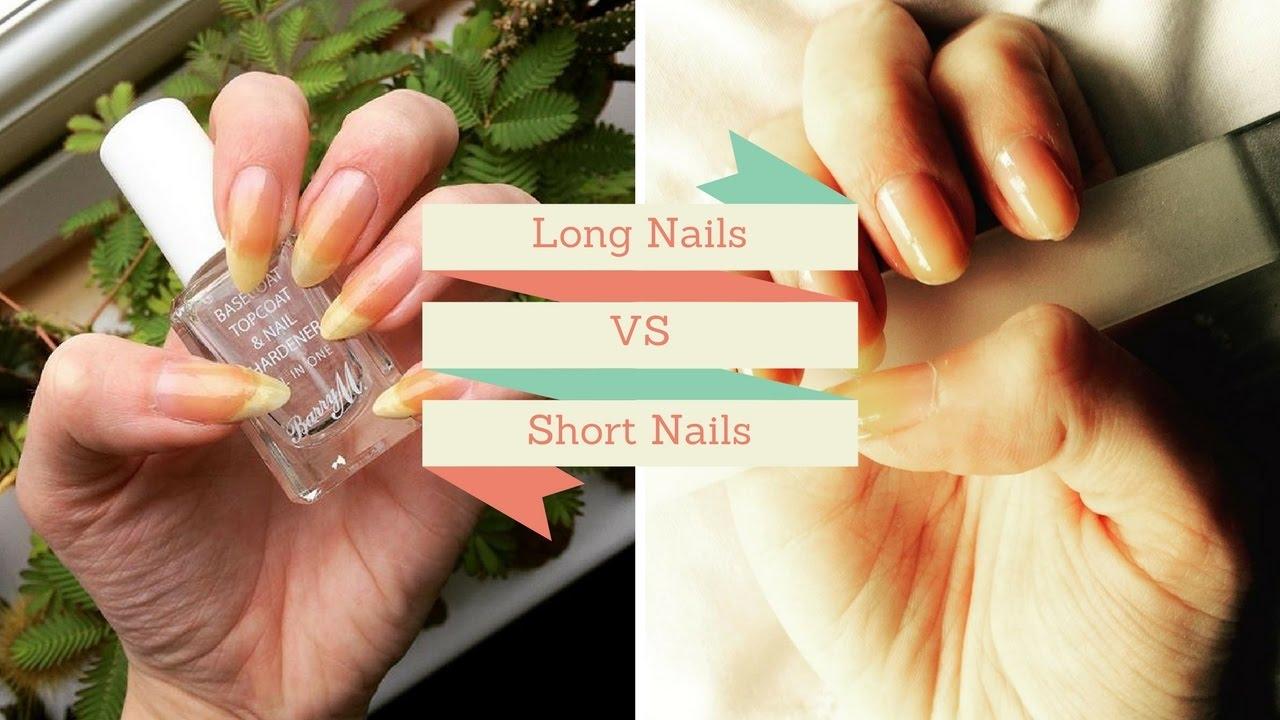 Long Nails VS Short Nails - YouTube